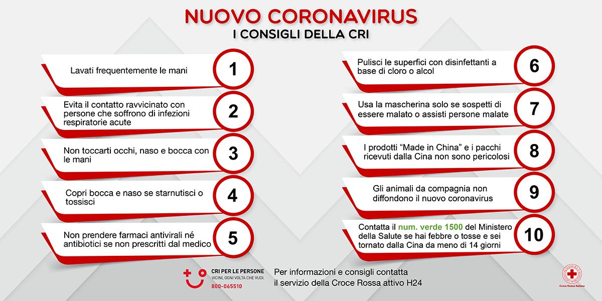 consigli coronavirus